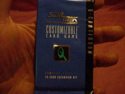Lot Of 5 Booster Packs.star Trek Limited Edition Q-Coninuum Ccg Decipher