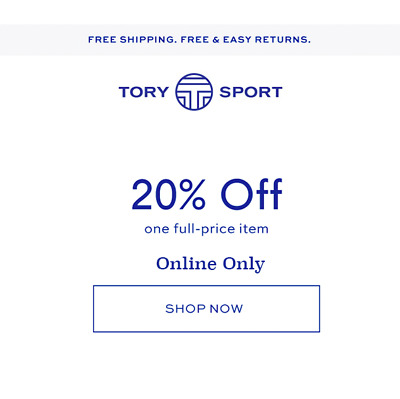 7ac337f8b308 Tory Burch Sport 20% OFF Your Full Priced Purchase Coupon   Online  Exp 7