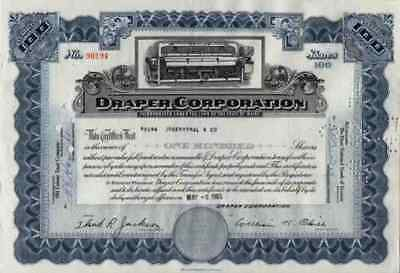DRAPER Corporation 1965 Hopedale Massachusettes Maine Lowell Bank Note Boston