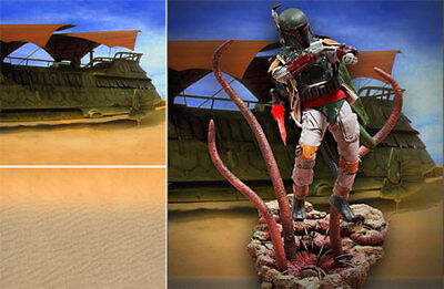 Poster Backdrop~Star Wars~Sarlacc Pit For 1/6 Hot Toys Figures Boba Fett  Mms312