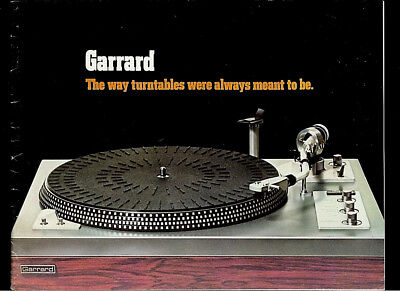 Garrard GT 55/35/25/15/10 Turntables Rare Original Factory Dealer Brochure