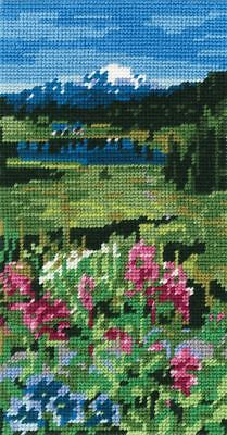 DMC Preprinted Canvas Tapestry - The Mountains C17N17/2