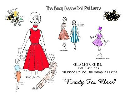 """Glamour Girl """"Ready For Class"""" Pattern For Vintage Barbie (#2)"""