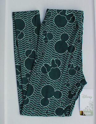 8421c82065174f OS LuLaRoe Disney Leggings One Size MIckey Minnie Mouse Green & Mint  Stripes 43