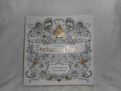 Enchanted Forest An Inky Quest And Coloring Book By Johanna Basford 2015 NEW