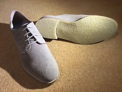 Brand new pair of men's   JASPER CONRAN suede shoes, size 12. Colour Taupe