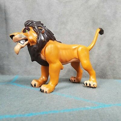 "Disney Lion King  ""Fighting Action Scar"" Toy Figure Push-Button Mattel 1994"