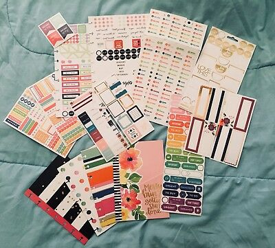 Mix Lot Stickers Mini Happy Planner Folders To Do Schedule Notes Organize