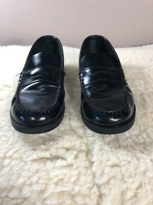 9430a586307 Sperry Top-Sider Colton Patent Leather Moc Toe Penny Loafer Black Boys Size  5N