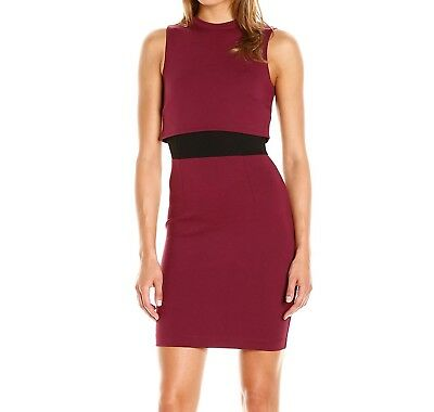 d760041b700 French Connection NEW Red Black Women's Size 12 Lula Sheath Dress $158- 493