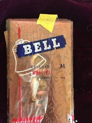 Bell Electric NOS Copper 3 Push Button Light Switch Plates Hammered Copper Look
