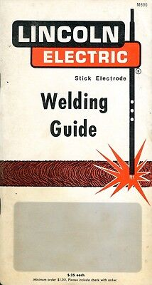 Vintage 1969 Lincoln Electric Stick Electrode Welding Guide * Guide Book