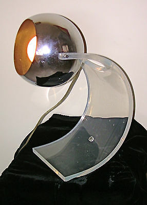 Mid Century Modern LAMP, ROBERT SONNEMAN Chrome & Lucite early 1960's,Vintage