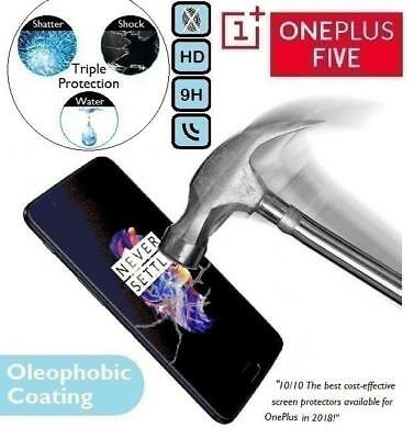 100% Genuine Premium Tempered Glass Screen Protector One Plus For OnePlus Five 5