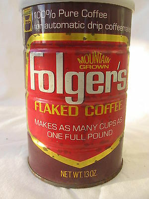 vtg pat date 1971 Proctor & Gamble Folgers Coffee tin can 1970s auto drip maker