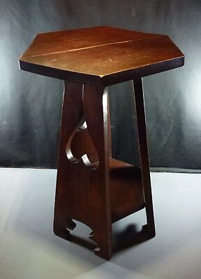 Wolverine Tabouret, Dutch Arts & Crafts Style, Cut-Outs, Six Sided