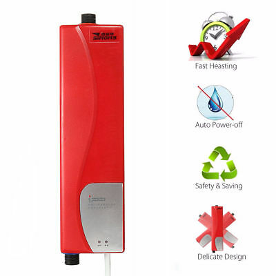 3000W Kitchen Bathroom Mini Hot Water Heater Tankless Electric Shower Instant