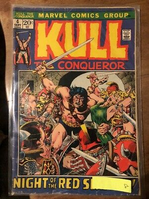 Kull The Conqueror No. 4 Sept  Marvel Comic Vintage  Vg