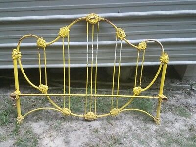 antique cast iron bed full size