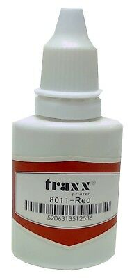 Refill ink for self-inking stamps Traxx Ideal Trodat Red 1 oz