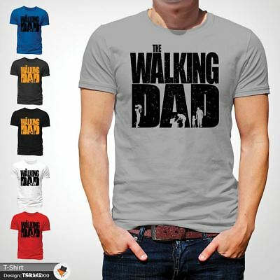 The Walking Dad Funny Mens T Shirt Fathers Day Dead Zombie Gift Birthday Gray 1