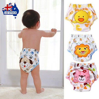Washable Cloth Diapers Kids Underwear Reusable Nappies Training Pants Panties
