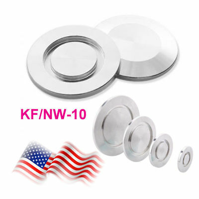 2X KF-10 Blank Flange Blind Flange Cap Nw-10 Vacuum Fitting Stainless Steel USA