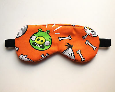 Nap Eye Shade Angry Birds Sleep Mask Kid Toddler Boy Child Fannel Green Pig