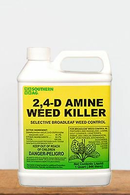 Southern Ag 2, 4 - D Amine Weed Killer (Control broad-leaf weeds, grass), 1 Q...