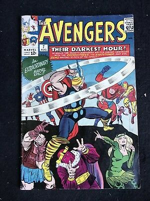 The Avengers #7 (1964, Marvel) Superb condition!  Classic Lee and Kirby!