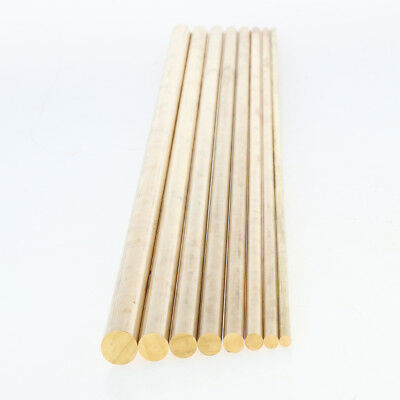 50cm x Brass Round Bar Rod Metric Cut Material for Electroplating 4mm-8mm