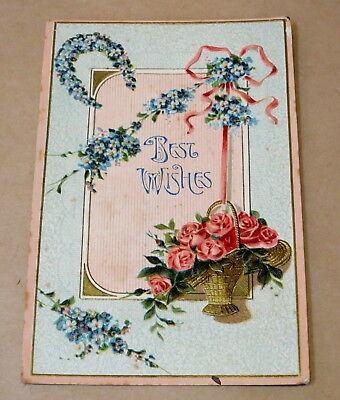 Antique Used Postcard 1909 Best Wishes