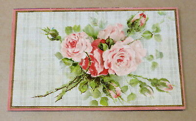 Antique Used Postcard 1909 Embossed Roses