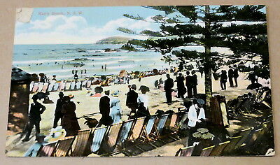 Antique Used Postcard 1912 Manly Beach Sydney Real Photo