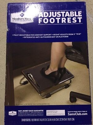 "Member's Mark Ergo Comfort Anti-Slip 3"" - 8"" Adjustable Footrest"