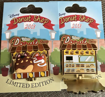 Disney Parks  Donut Shop   Chip n' Dale  Hinged Pin  2018  LE 3000  NEW