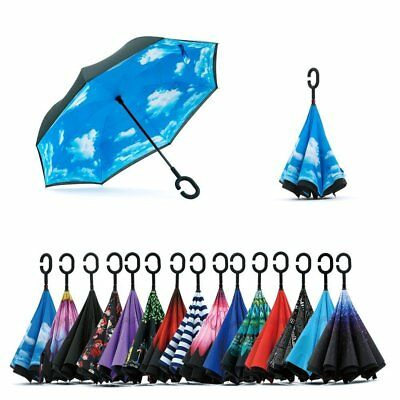 New C-Handle Better Brella Double Layer Upside Down Reverse Opening Umbrella US