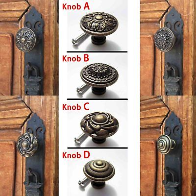 1/6pc Antique Brass Drawer Cabinet Cupboard Dresser Door Window Handle Pull Knob