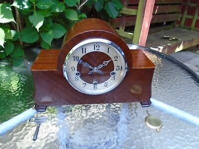 Stunning Enfield London Art Deco Fully Restored Westminster Chimes Mantle Clock