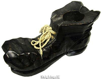 Boot Shoe Hob Nail Spanish Wood Sculpture 20 cm Wide