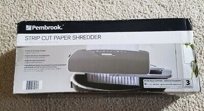 Pembrook Strip Cut Paper SHREDDER w/Reverse