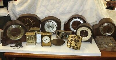 Job lot of clocks & parts for repair