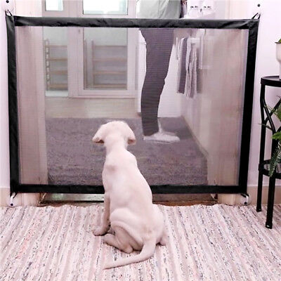 Mesh Magic Gate Portable Folding Guard Safety Isolated Enclosure for Pet Dog Cat