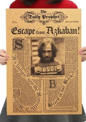 Harry Potter Poster Sirius Black Escape from Askaban Daily Prophet 42cm x 30cm