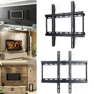 """Slim TV Flat Screen Wall Bracket Mount For 26 to 55"""" Inch Monitor LED LCD Plasma"""