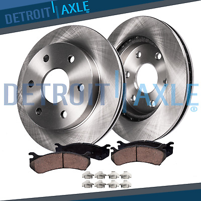 Ceramic Pad For 04-2010 Toyota Sienna 2 Drilled Slotted Brake Rotors 4 Front