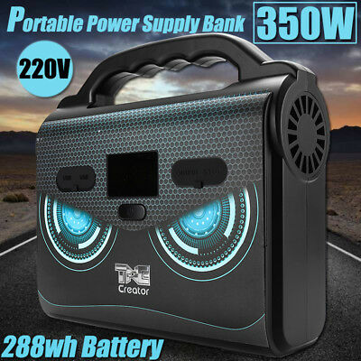 288WH 350W Portable Solar Generator Power Supply Energy Storage LED USB Charger