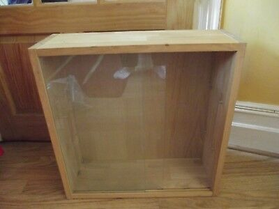 Model Display Cabinet with Glass Doors and Shelves