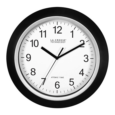 Wall Clock Analog Self Set 10 Inch Automatic DST Reset for Precise Time in Home