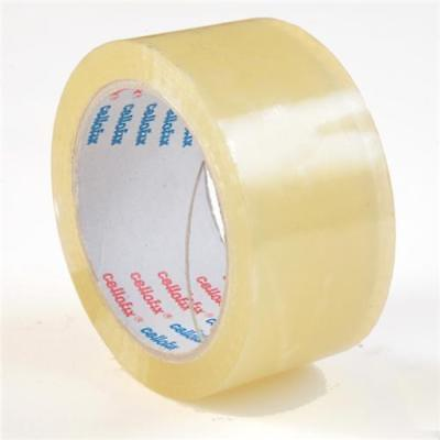 Extra Strong Low Noise Parcel Carton Sealing Tape 48Mm X 66M Large Clear / Brown
